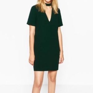 Zara V-Neck chocker dress